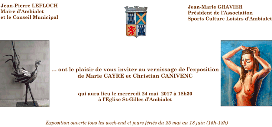 Vernissage Marie Cayre, Christian Canivenc